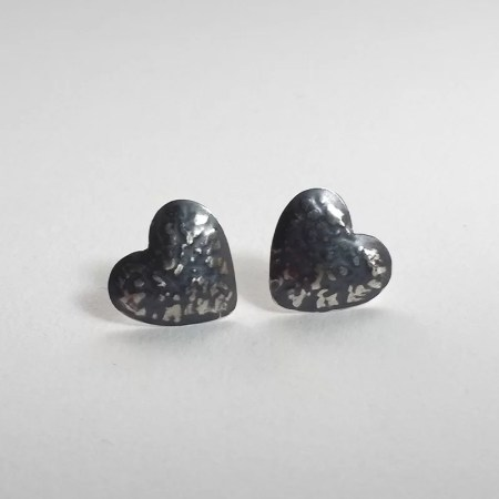 Katherine Yelland - Blackwave heart studs