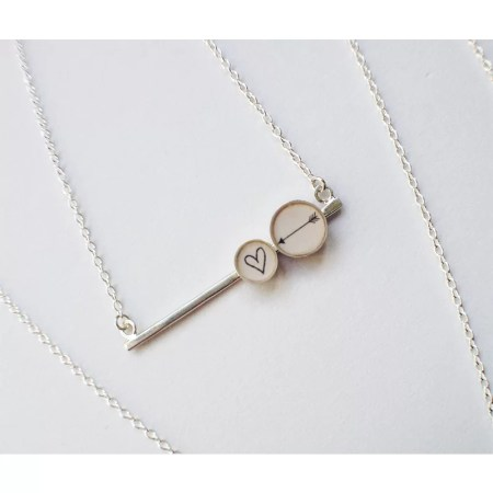 Clare Collinson - Heart and Arrow Bar Necklace