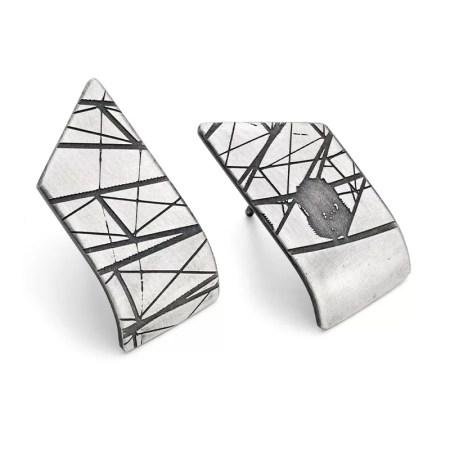 Jodie Hook - Point Curve Stud earrings