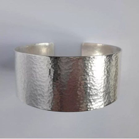 Sarah Steele - Hammered silver cuff