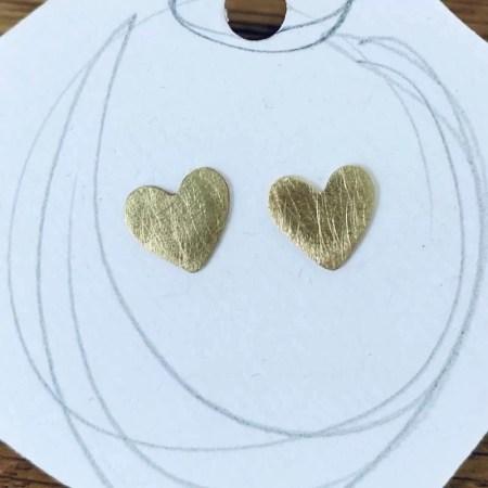 Stephanie Hopkins - Brass Heart studs