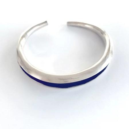 Contrary Mary - Silver oxidised cuff bangle