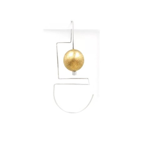 DeeLyn Walsh - Labyrinth maxi earring single sphere