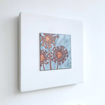 Janine Partington - Allium enamel artwork