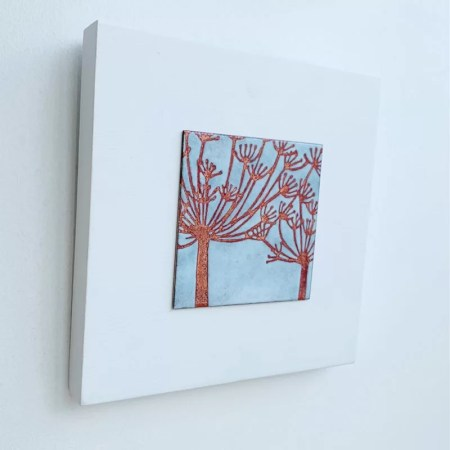 Janine Partington - cow parsley enamel artwork
