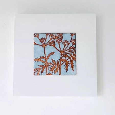 Janine Partington - fennel enamel copper panel