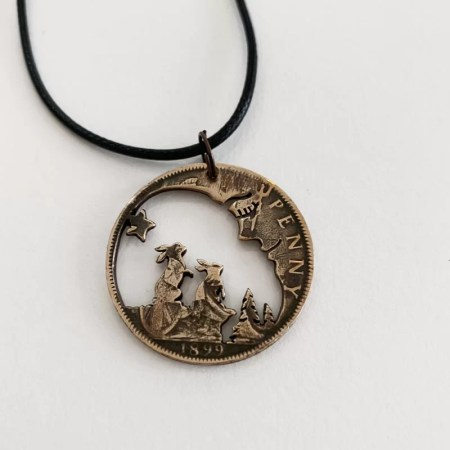 Oathill and Kinsfolk - Big Moon and Hares Pendant
