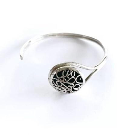 Ria Poynton - Telkari framed sphere bracelet