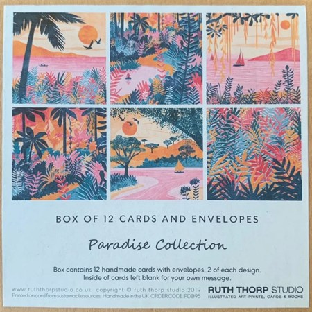 12 Card Pack - Paradise collection