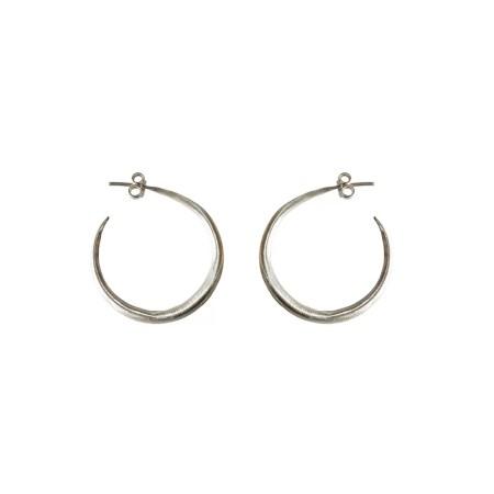 Eleni Koumara - medium silver hoop earrings