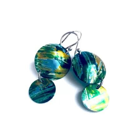 Lisa Marsella - Earrings greens.