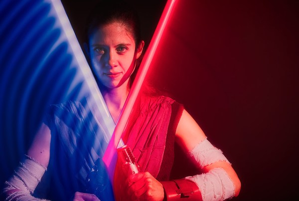 CAM EVANS INSPIRATION COSPLAY REY STAR WARS lightsaber Duel