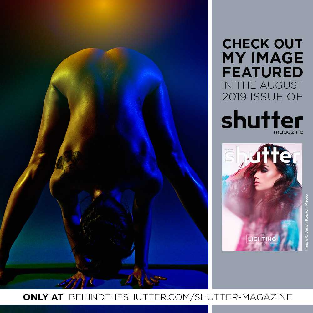 CAM EVANS PHOTOGRAPHY FOR MADEGRANDBYCAM FEATURED IN SHUTTER MAGAZINE - THE LIGHTING ISSUE AUGUST 2019