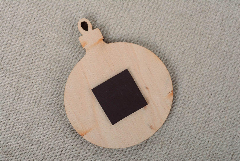 forme en bois a peindre boule de noel
