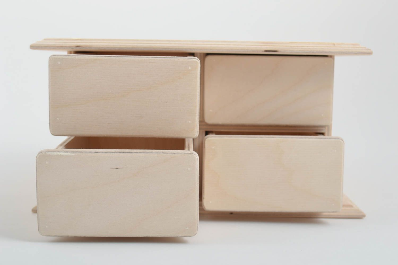 boite rangement tiroir faite main tiroirs en bois boite a decorer ou peindre