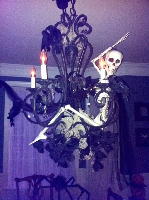 Skeleton Chandelier