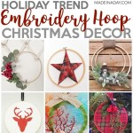 Trendy Embroidery Hoop Christmas Decorations Made In A Day