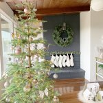Sparkling Champagne Gold Sparse Christmas Tree Made In A Day