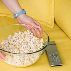 making homemade popcorn in an inexpensive air popper is fast and much healthier than microwave popcorn. Get our recipe and more helpful tips at Made in a Pinch and follow us on Pinterest!-min