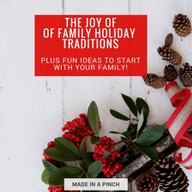 the joy of family holiday traditions graphic