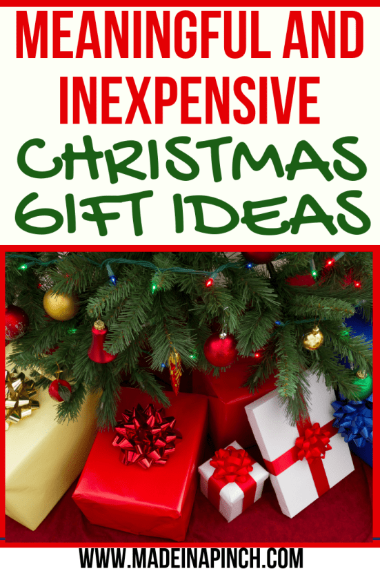 cheap Christmas gift ideas pin image