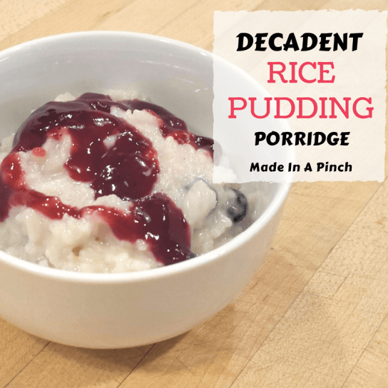 Rice Pudding Porridge