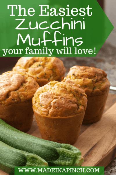 Zucchini Muffin post Pinterest Pin image
