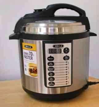 Bella pressure cooker