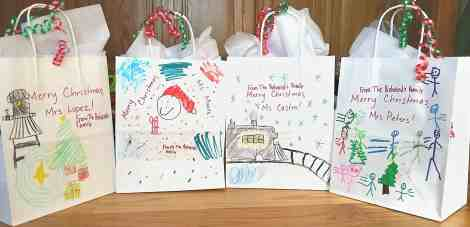 decorated gift bags