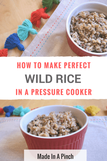 Pressure cooker wild rice Pinterest Pin