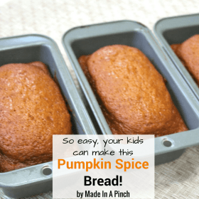 Pumpkin Spice bread so easy your kid can make it!