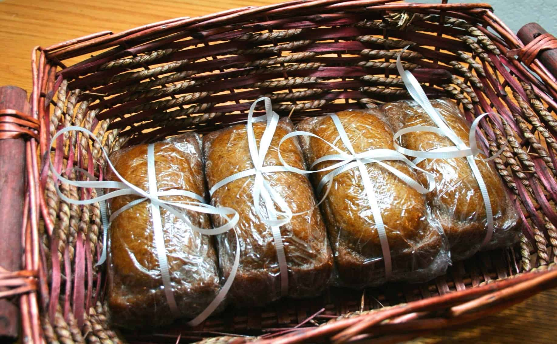 pumpkin bread loaves
