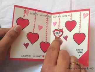 Valentine's Day activity scratch-off card