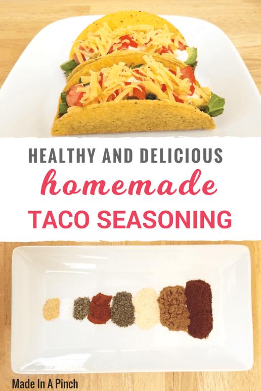 Homemade taco seasoning recipe