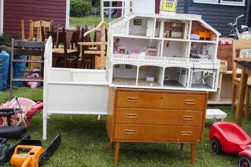 image of furniture at a garage sale