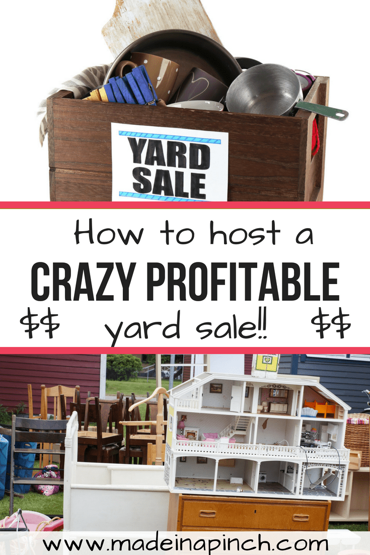 Hosting a crazy profitable yard sale takes work but is possible! Get all our tips for getting the most out of your experience and making it worthwhile at Made in a Pinch. Follow us on Pinterest!