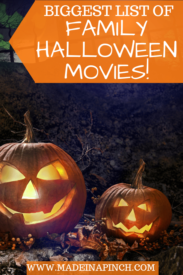 Grab our list of 100 of the best Family Halloween Movies on Made in a Pinch. For more great tips, resources and easy recipes, follow us on Pinterest!1