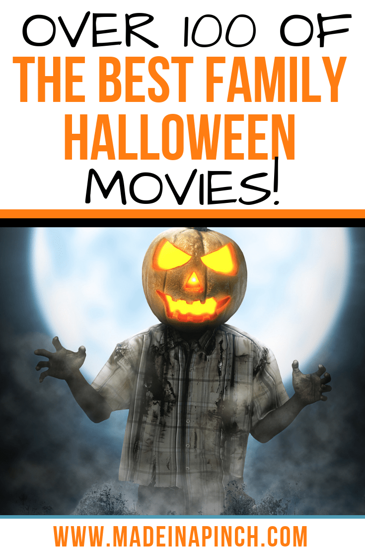 Grab our list of 100 of the best Family Halloween Movies on Made in a Pinch. For more great tips, resources and easy recipes, follow us on Pinterest!3
