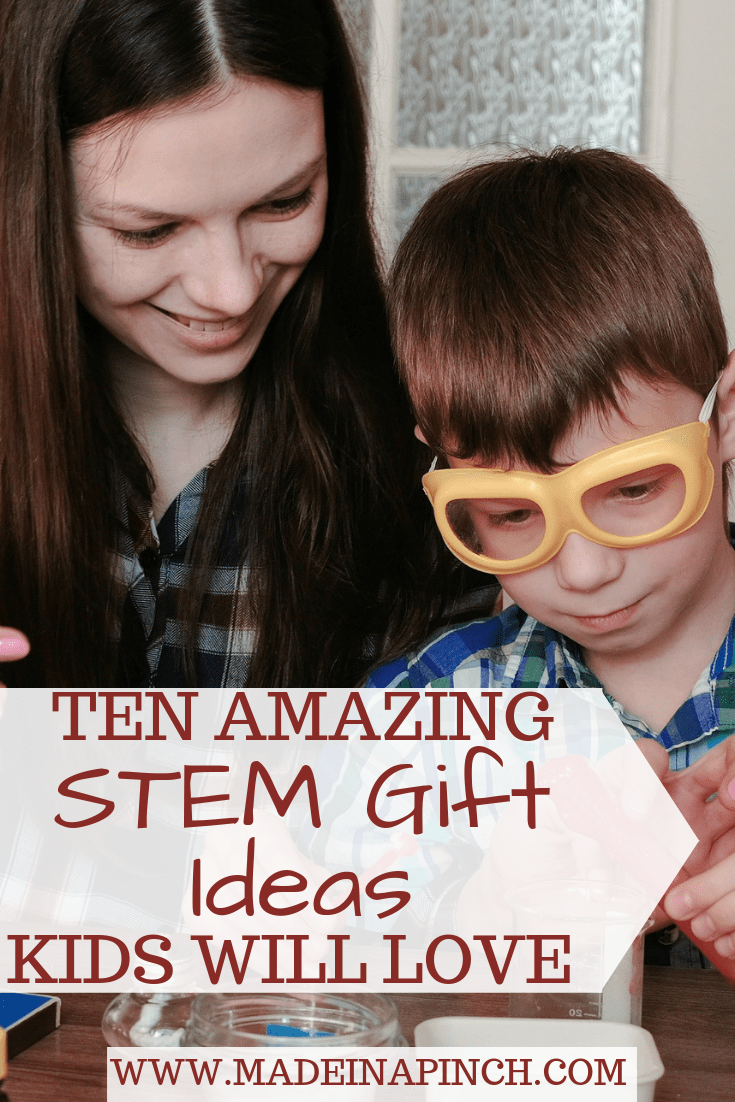 STEM activities are hugely important for kids' learning. Grab our list of 10 fabulous STEM gift ideas for kids to encourage learning and fun at Made in a Pinch. For more helpful tips and delicious recipes, follow us on Pinterest!