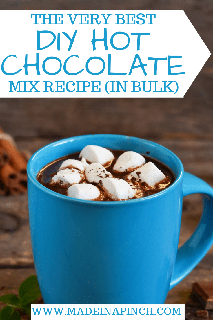Get our recipe for the very best homemade hot chocolate mix to make in bulk! For more helpful tips and delicious recipes, follow us on Pinterest!