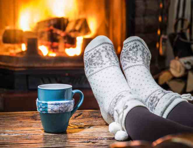 Relaxing with a hot drink by the fire is a great way to practice self care during the holiday! For more helpful tips and delicious recipes, go to Made in a Pinch and follow us on Pinterest!