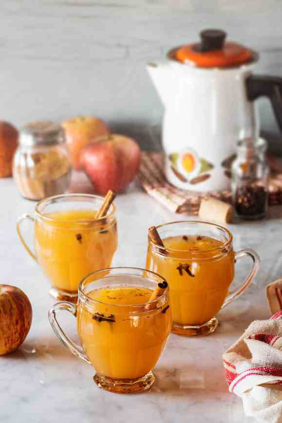 This hot mulled cider recipe helps create a festive atmosphere and is perfect for a cold day or holiday get together. Get the recipe on Made in a Pinch. For more delicious recipes and helpful tips follow us on Pinterest!