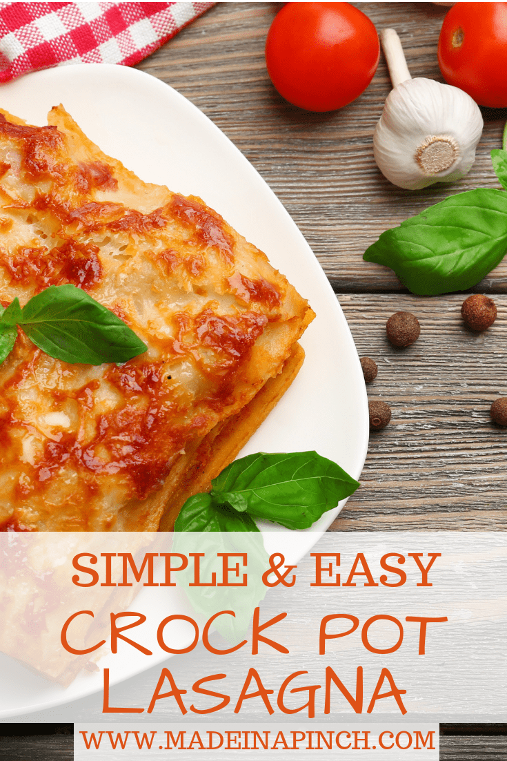 Make this family favorite classic super easy by making it in the crock pot! Grab our crock pot lasagna recipe on Made in a Pinch. For more easy family recipes and helpful tips, follow us on Pinterest.