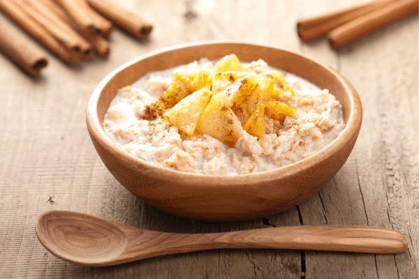 Slow cooker apple cinnamon oatmeal is a wonderful & easy breakfast option for the whole family
