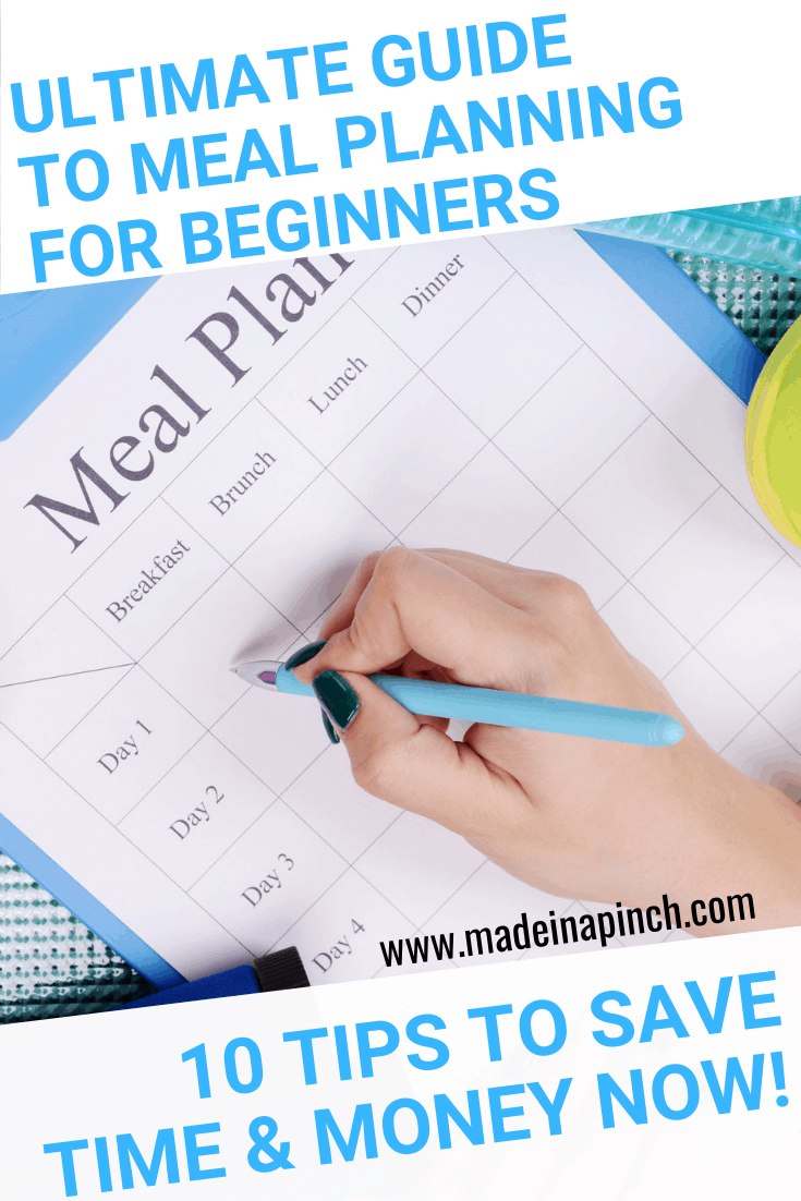 Our ultimate guide to meal planning simplifies the process so you can start saving time and money immediately. Get more helpful tips and family recipes on Made in a Pinch and follow us on Pinterest!