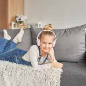 Grab my entire list of the best podcasts for kids that teach, inspire and entertain. Get more helpful family tips and easy recipes by following us on Pinterest!