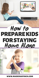How to Prepare Kids For Staying Home Alone Pinterest graphic