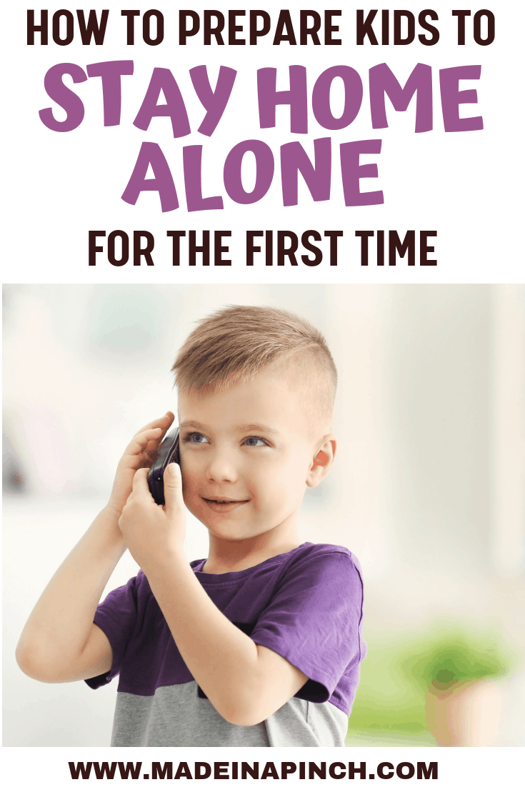 how to prepare kids to stay home alone