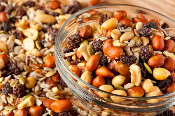 Make your own trail mix for a quick and healthy on-the-go snack!