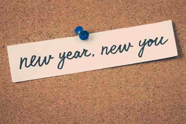 New Year new you sticker serves as a reminder to help kids make their new years resolutions